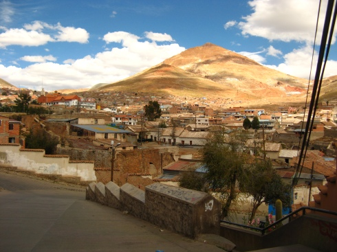 Potosi, now a down at heel city in Bolivia but once the centre of the Latin American silver mining trade.